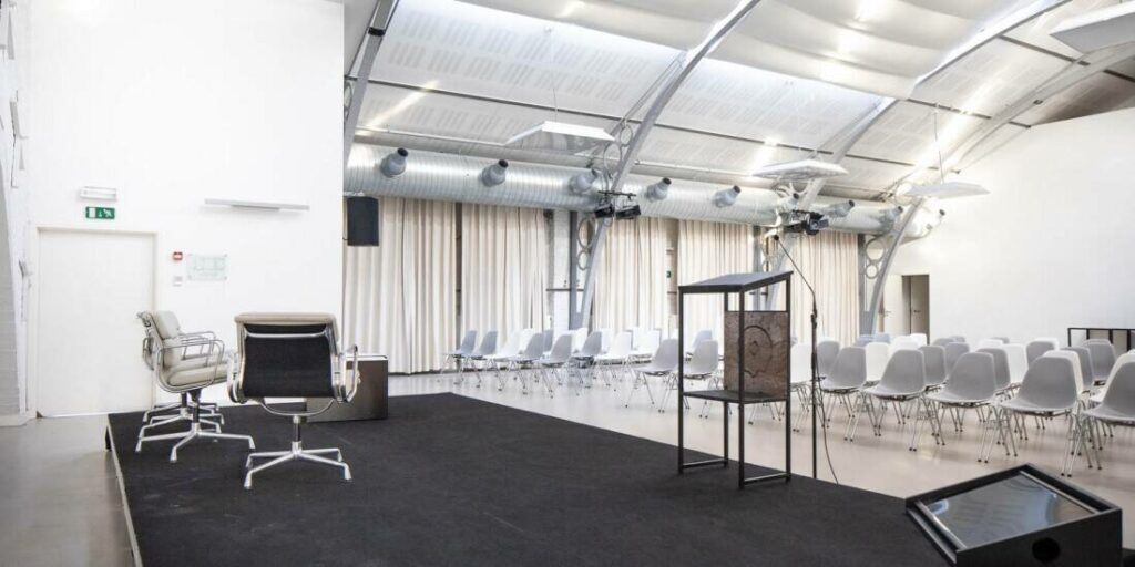 Bright event space with bar in Brussels