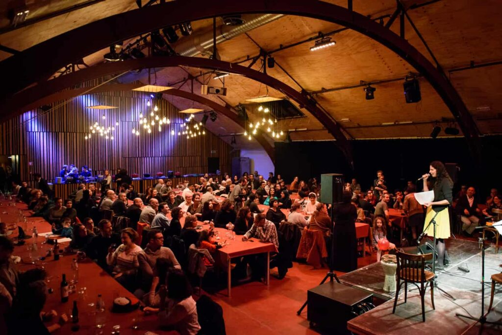 Tricoterie venue with terrace and foyer