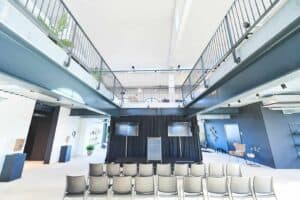 Chic industrialised venue for corporate events