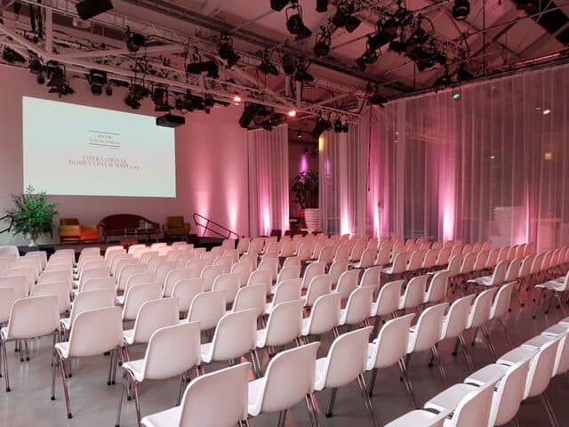Wide event space in Amsterdam
