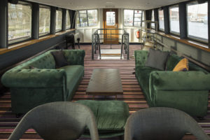 Modern and cozy event boat in Amsterdam