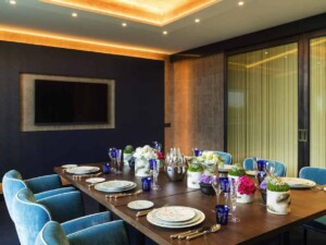 Elegant private dining space close to international institutions