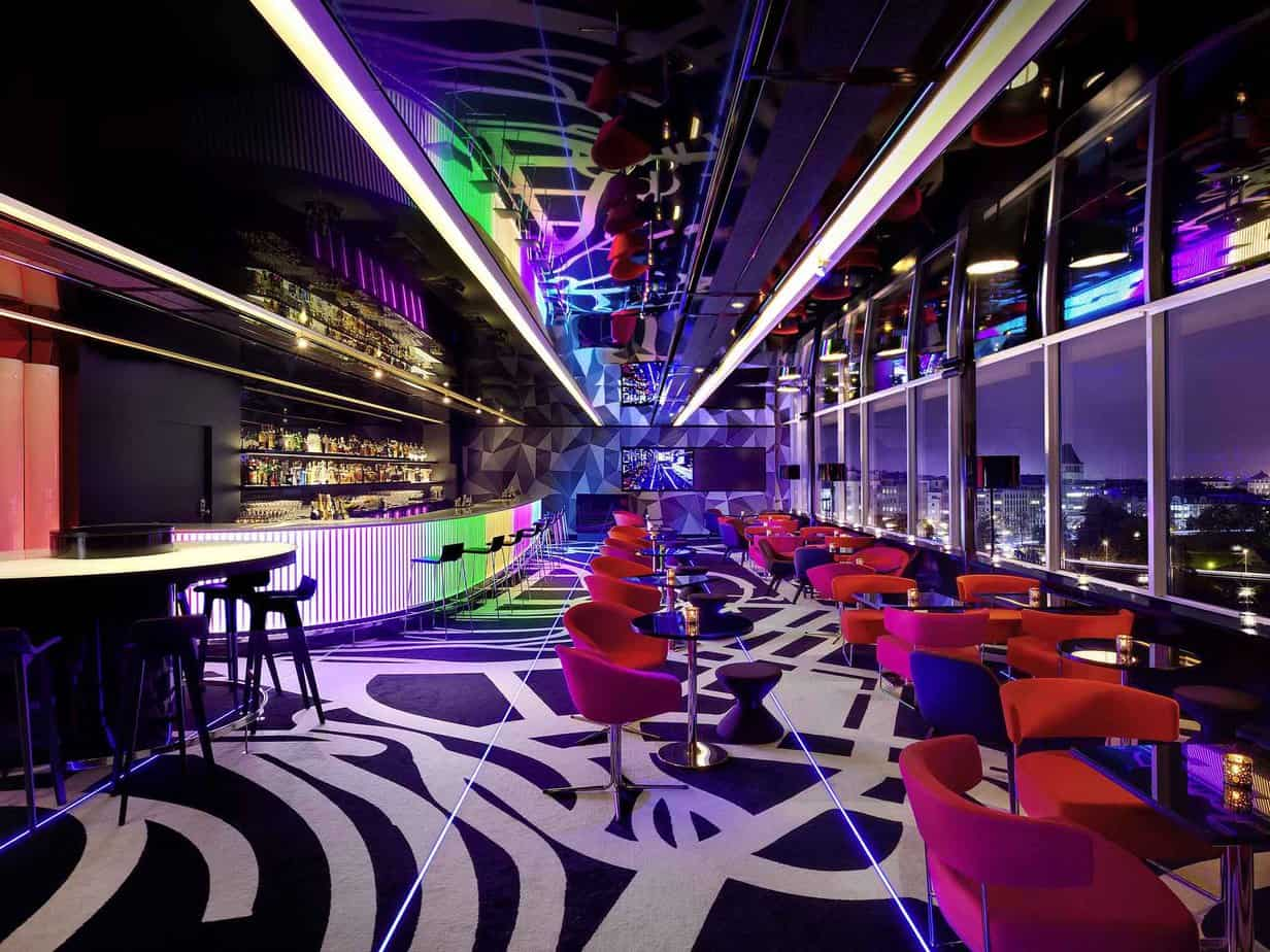 Hip and trendy bar for relaxed business encounters