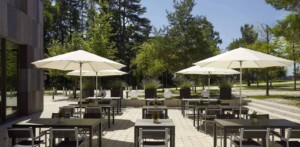 Spacious terrace for outdoor business events