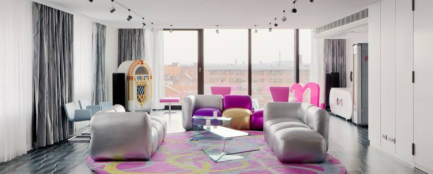 avant-garde futuristic hotel