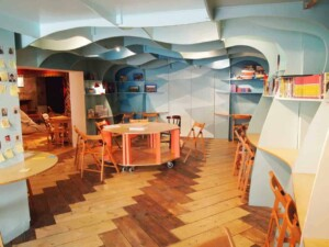 Underwater creative event space for workshops and more