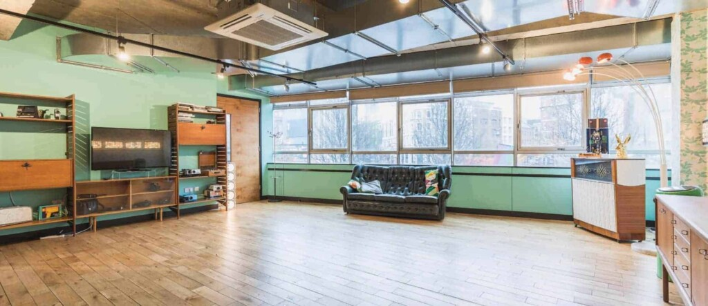60's inspired library space for workshops and more