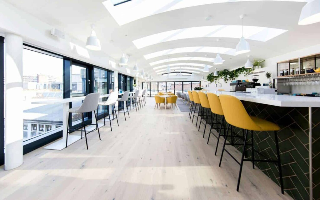 Beautiful rooftop venue with a private terrace