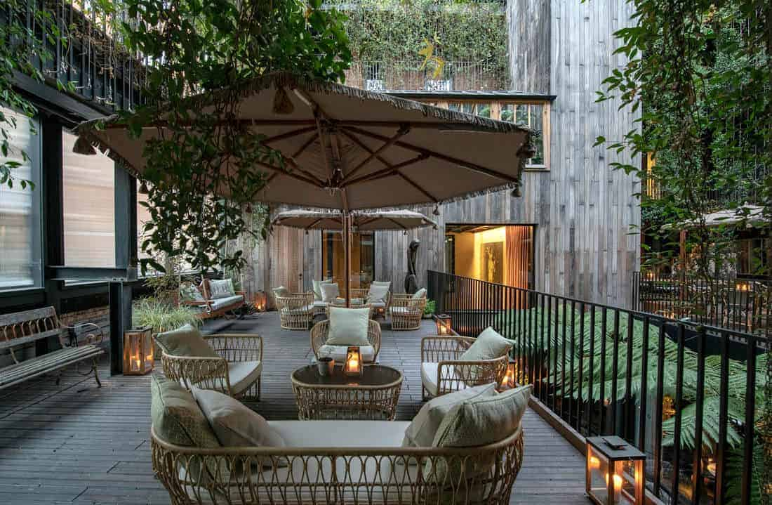Boutique hotel with idyllic courtyard