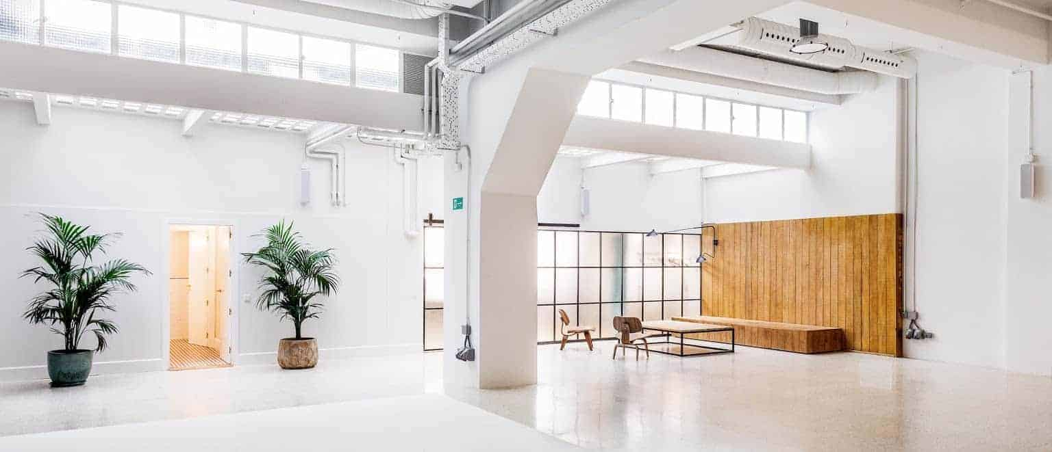 Multipurpose and bright venue with wood accents