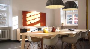 Innovative and designed room for meetings