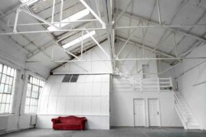 White photographic and filming studio