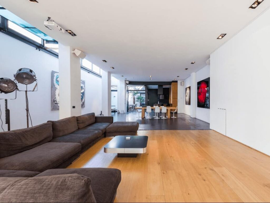 New York-style loft in Brussels