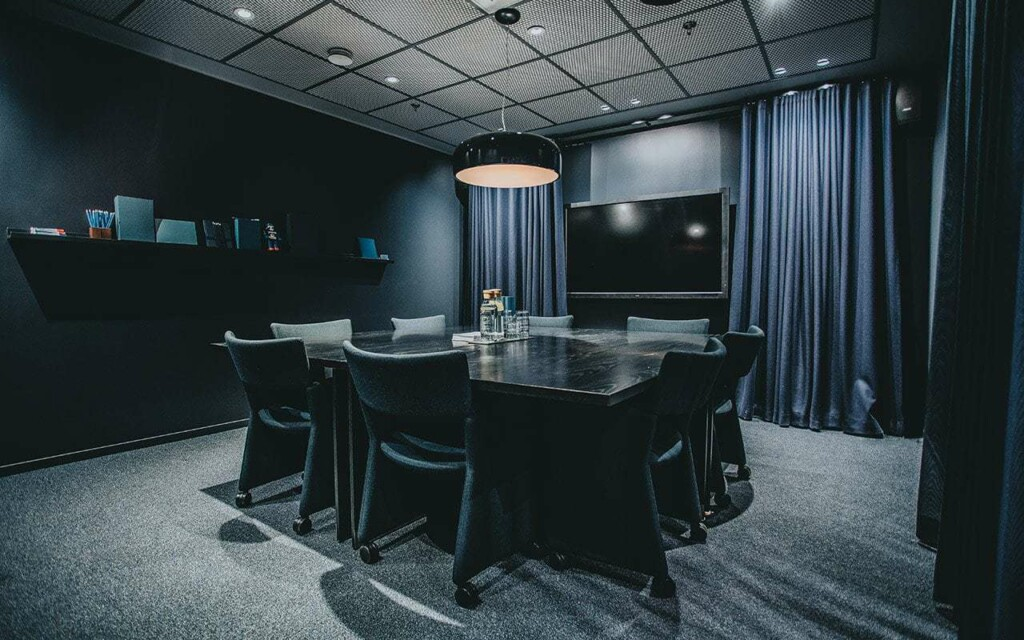 Chic meeting room in old banking HQ