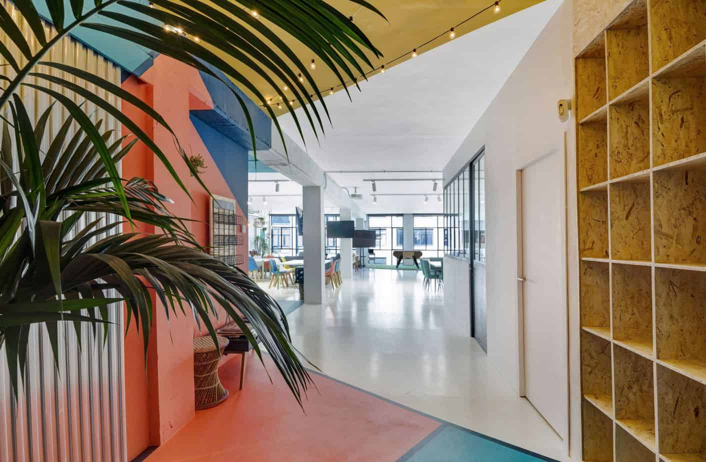 Colourful innovative space in Barcelona