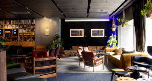 Cozy lounge area for casual business encounters