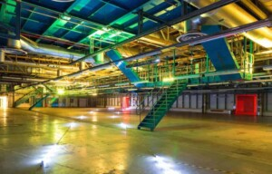 Large industrial venue for experiential events