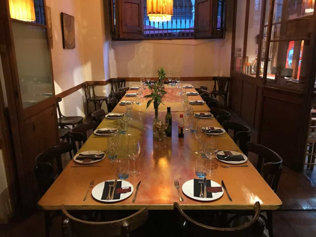 Private dining table for business meetings