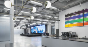 Sleek and industrial event venue
