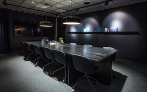 Sleek meeting room for private gatherings