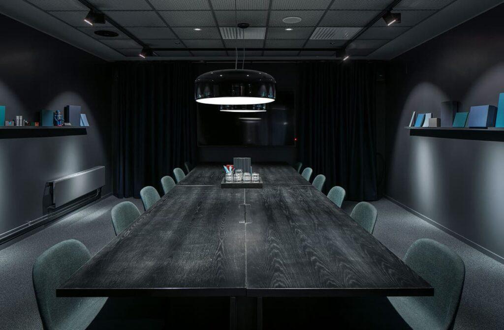Sleek meeting room for private gatherings