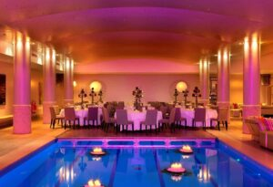 Stunning pool area for private business events