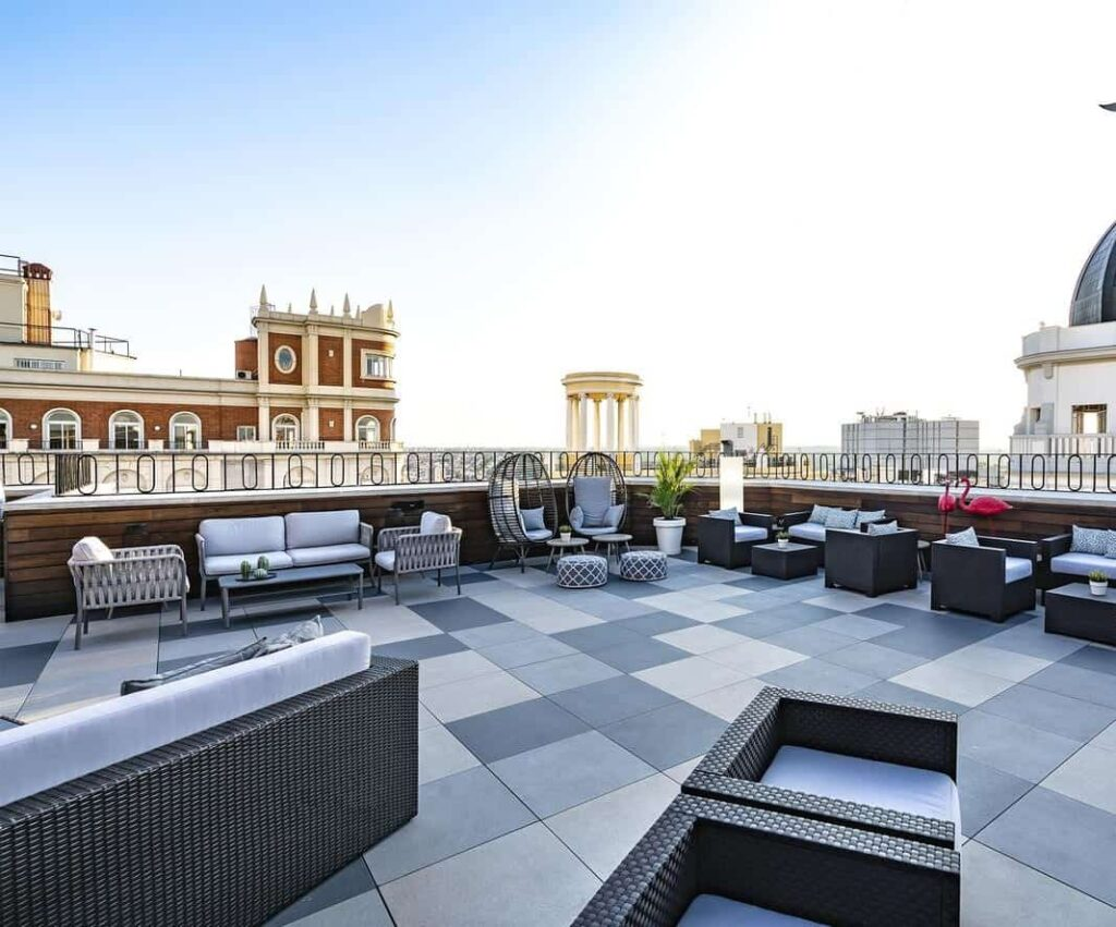 Stunning rooftop terrace in central Madrid