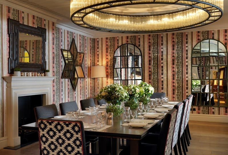Sumptuous private dining room