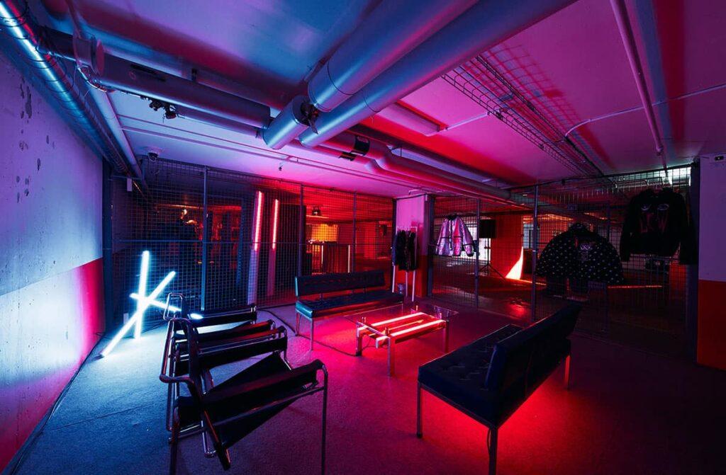 Unique event venue in former garage