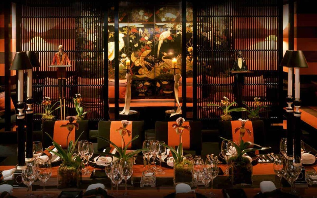 Oriental-inspired venue with a mysterious vibe