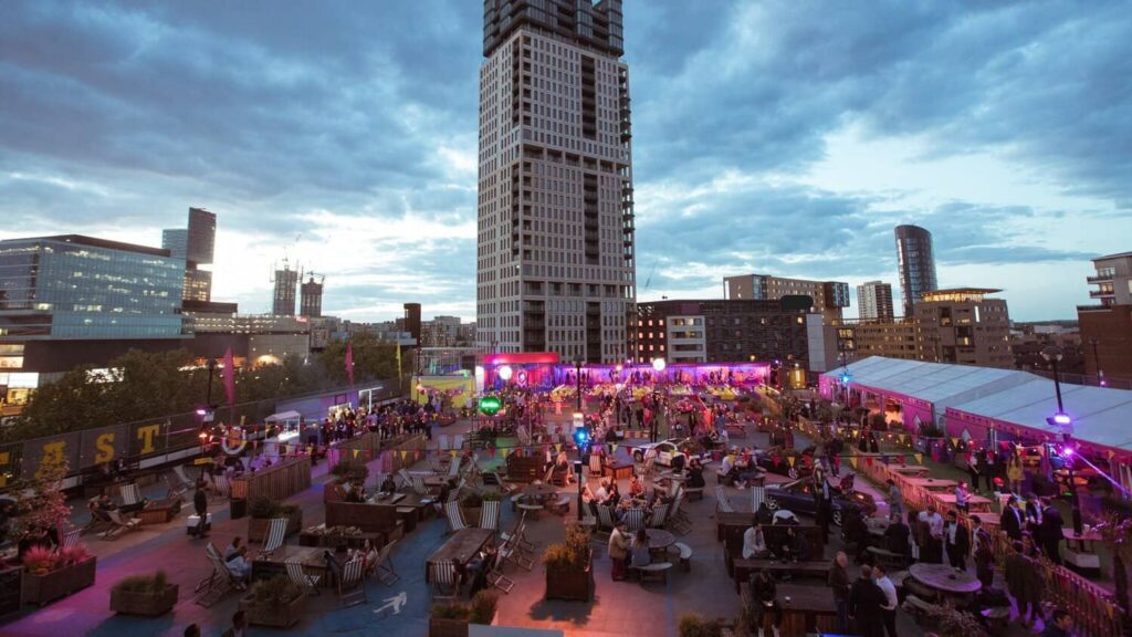 Rooftop location for enjoyable events