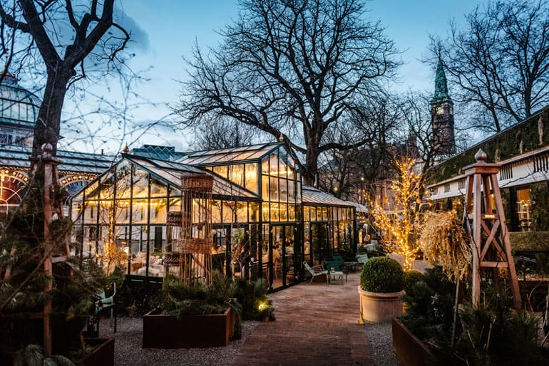 Beautiful greenhouse for sustainable events