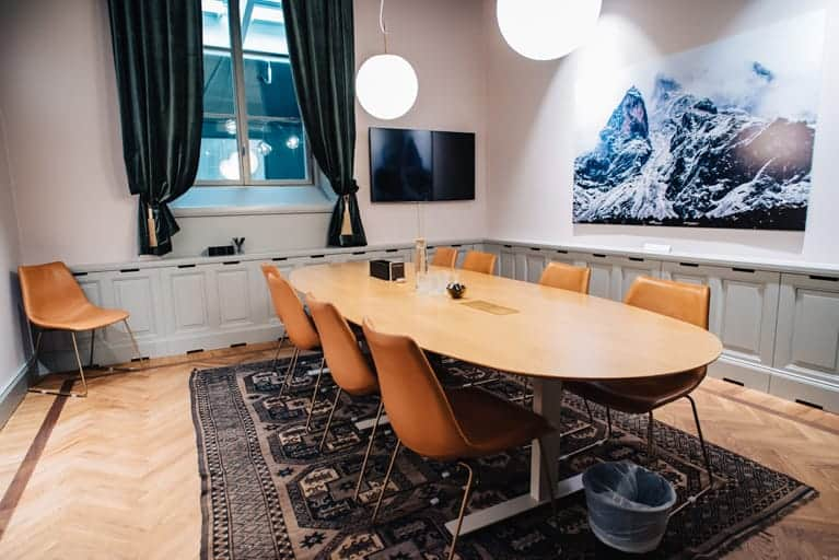 Beautiful meeting room with a classy style