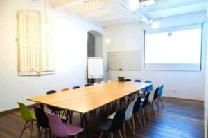 Colorful and bright meeting room in Eixample
