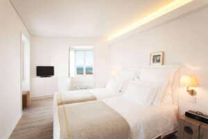 Contemporary boutique hotel with views of Lisbon