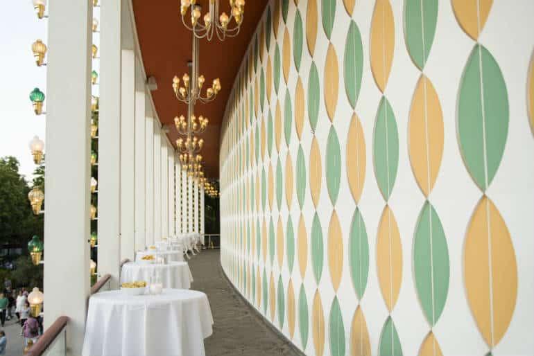 Elegant lounge with a fantastic view of Copenhagen