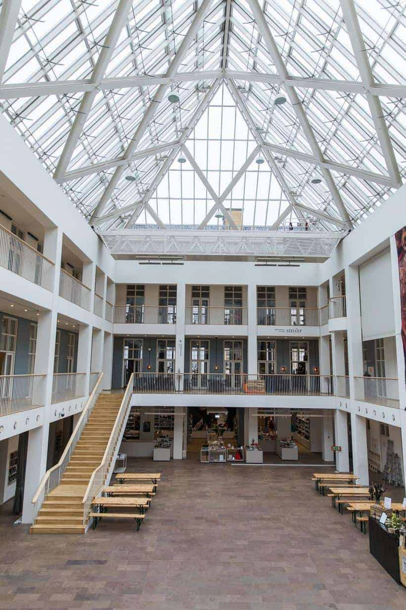 Impressive venue with big glass roof
