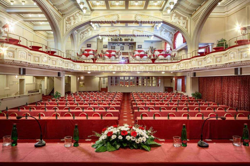 Magnificent conference hall with an Art Nouveau style