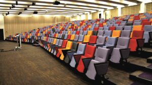 Multicolour auditorium for large corporate meetings