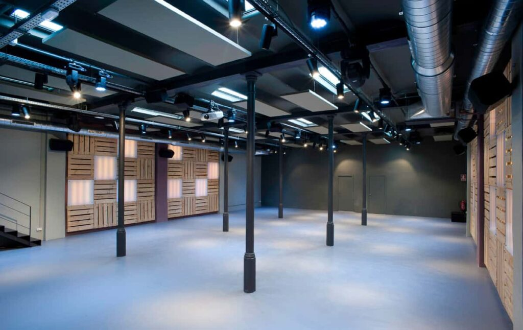 Stylish and open venue with skylights in Barcelona