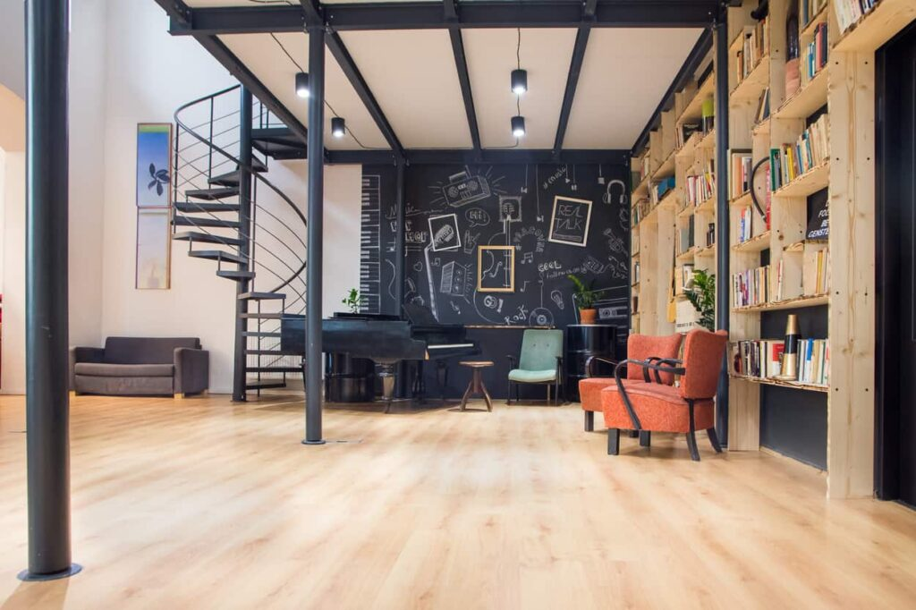 Trendy and chic space with a mezzanine