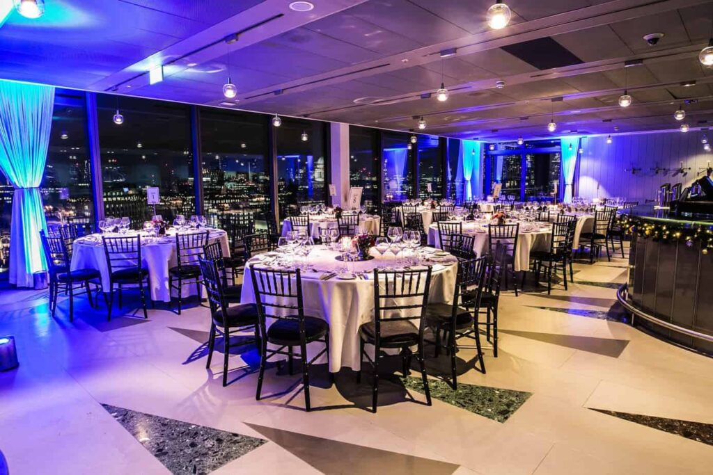 Exclusive event venue with stunning view of London