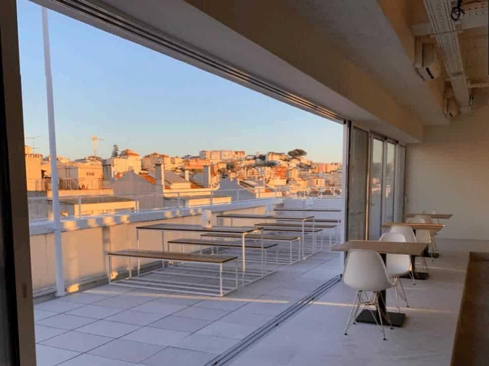 High-end event space overlooking Lisbon skyline