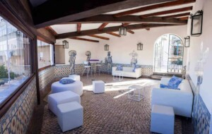 Intimate event venue with authentic Azulejo tiles