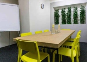 Small but cozy meeting room for intimate gatherings