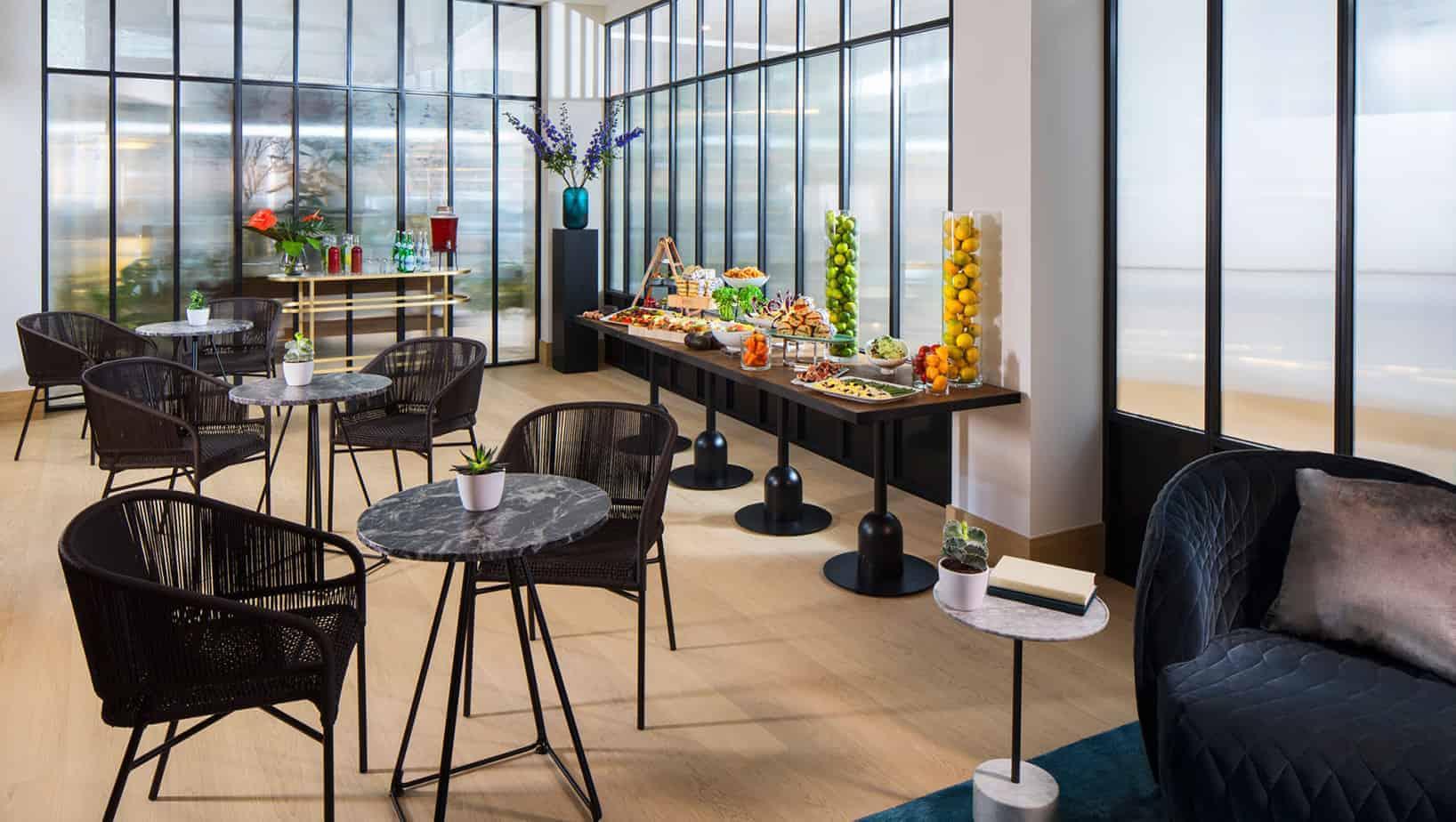 Bright cool lounge venue in Amsterdam