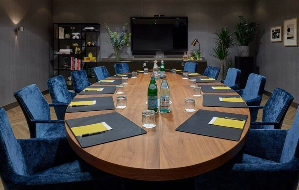 Contemporary executive boardroom for conferences