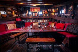 Eccentric event space for intimate gatherings featuring quirky and colourful interiors.