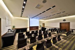 Elegant boardroom for business encounters