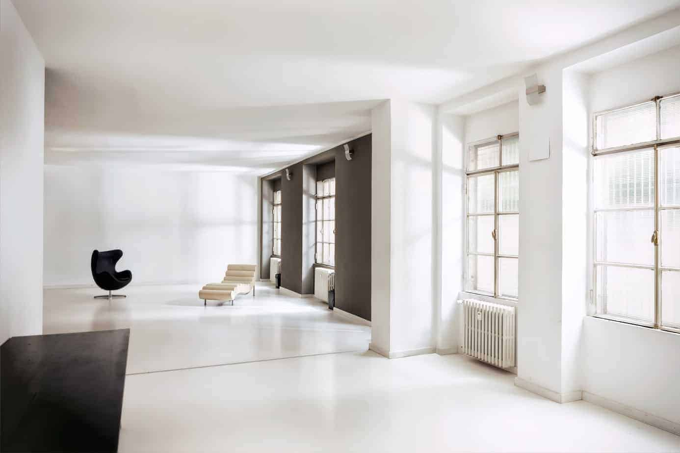 Luminous and airy studio for photo shoots and exhbitions